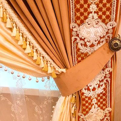 Декоративный бордюр для шторы