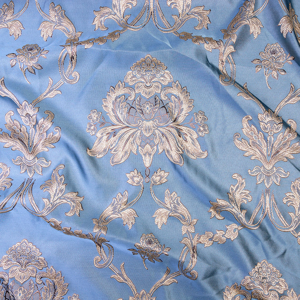 Ткань для штор с дамасским узором